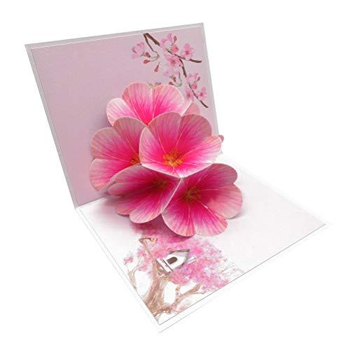 Tarjeta emergente 3D hecha a mano (Flor de durazno)
