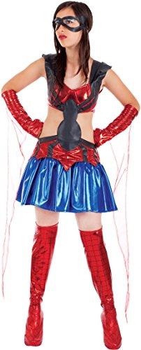 Carnevale Venizano CAV51330-12 - Teenagerkostüm SPIDER LADY - Alter: 12-16 Jahre - Größe: (Kinder Für Spider Kostüme Woman)