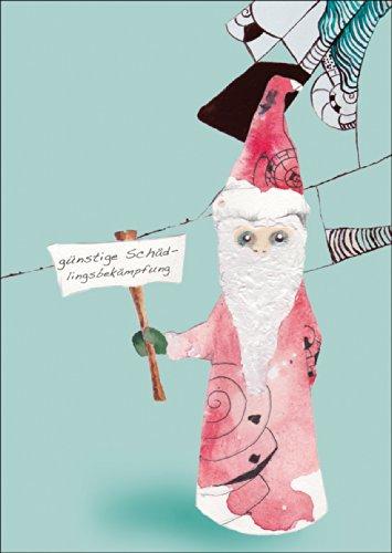 Schräge Oster/Weinachtskarte: günstige Schädlingsbekämpfung • auch zum direkt Versenden mit ihrem persönlichen Text als Einleger.