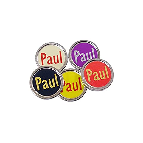 Personalised Flat Golf Ball Markers (Silver Coloured, Mixed Colours)