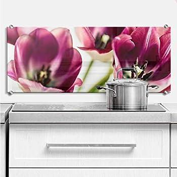 Panorama Küchenrückwand Sicherheitsglas Glas Küchenrückwand Cherry Blossoms