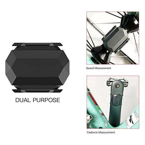 thorityau Geschwindigkeitssensor Fahrrad Wasserdicht Dual-Use-Sensor Trittfrequenzsensor Bluetooth 4.0 Für Fahrrad-App Plattform-Software Stoppuhr