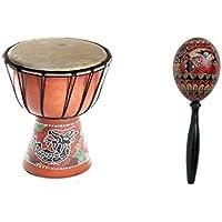 20cm Djembe Bongo Tambor tromel yembe Drum Yembe Nino Dragon + bartik maraca R3