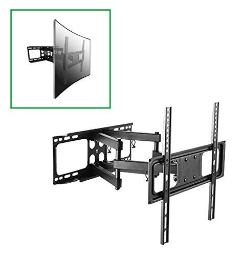 UNIVERSALE CURVED PLASMA LCD LED MONITOR BILDSCHIRM FERNSEHER TV WANDHALTERUNG Halterung Wandhalter Halter schwenkbar neigbar ausziehbar für 82 - 178cm (32 34 37 39 40 42 43 46 47 48 49 50 55 58 60 64 65 Zoll) BLAUPUNKT FUNAI GRUNDIG HISENSE JVC LG LOEWE MEDION ORION PANASONIC PHILIPS SAMSUNG SONY Bravia TELEFUNKEN THOMSON TOSHIBA mit max. VESA 400 x 400 mm inkl. Sony Vesa Adapter
