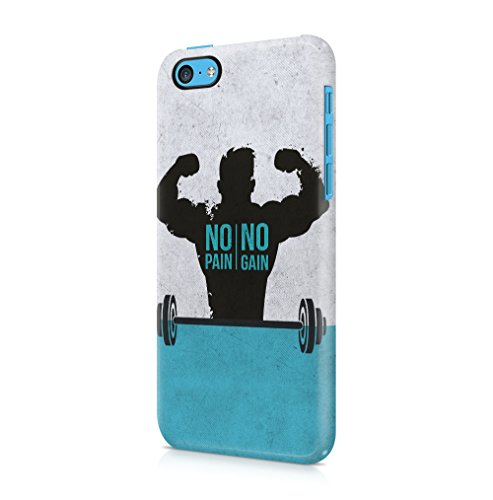 Excuses Dont Burn Calories Apple iPhone 5 / iPhone 5S / iPhone SE SnapOn Hard Plastic Phone Protective Custodia Case Cover No Pain No Muscles