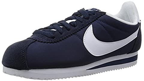 Nike Damen Wmns Classic Cortez Nylon Laufschuhe, Blau (Obsidian/White), 39 EU