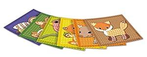 Play maíz 160280-Card Set Mosaic Little Forest, Juego de Manualidades