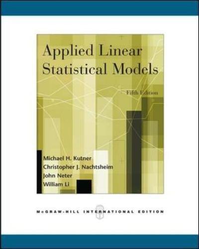 Applied Linear Statistical Models (Int'l Ed) por Michael Kutner
