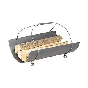 Schössmetall Holzkorb Anthrazit mit Edelstahl-Seil, Collo-4 04560400