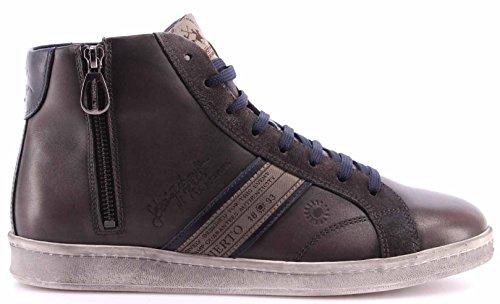 Scarpe Uomo Top Sneakers LA MARTINA L2006236 Ascot Grey Camoscio Grafite Nuove