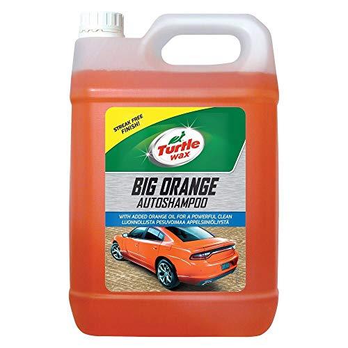 Turtle Wax 52817 Großes Orange Autoshampoo mit Streifenfrei Finish 5 L