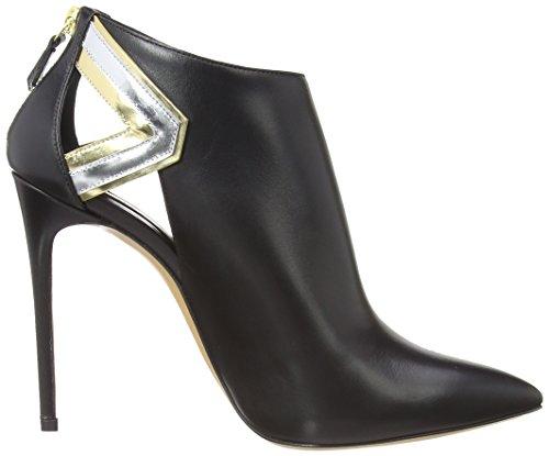 Casadei - 6205n, Chaussures Femme Noir (noir / Or)