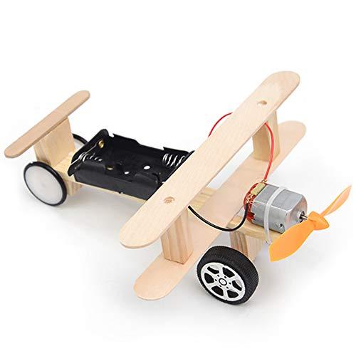 KKmoon Wood Electric Aircraft Planeador Eléctrico Kit,...