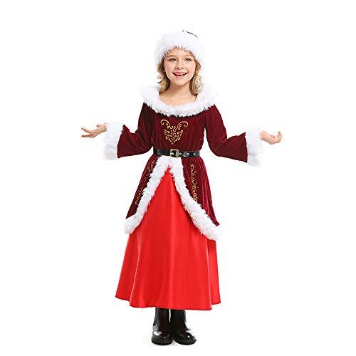 XSZD Paare Eltern-Kind-Weihnachtskostüm-Set Multi-Piece Warm atmungsaktiv Plüsch Weihnachtsmann Outfit Adult Weihnachten Kleid mit Weihnachtsmütze für - Best 80's Paare Kostüm