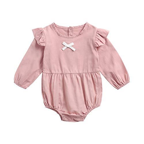 mwolle Bodys Für Mädchen Baby Säugling Overall Lange Ärmel Strampelhöschen (0-6 Monate / 66cm, BRW8156-PK) ()