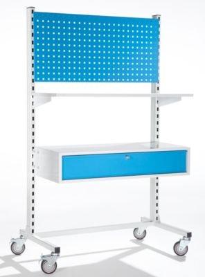 EUROKRAFT Mobiles Werkstattpult mit Einzelschublade, Breite 1010 mm - Einzelschublade, Breite 1010...