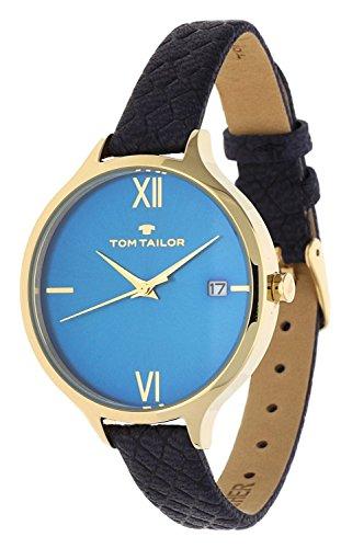 Tom Tailor Femmes Montre Bleu 5416004