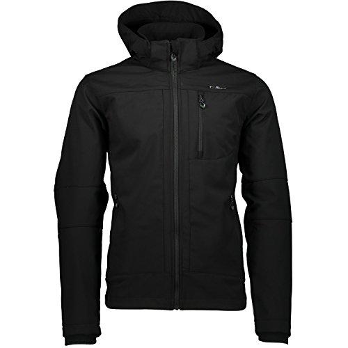 CMP Softshell Outdoor Jacke Herren l Franco, Farbe:Black, Größe:M / 48