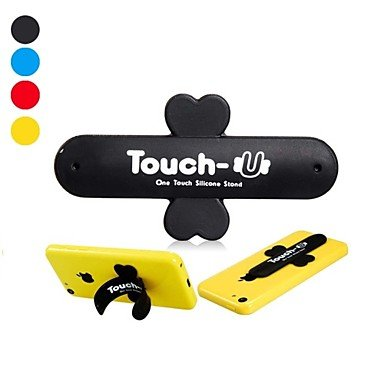 zzll151 Universal Touch-U Magic Sticker Cross Shaped Silicone Stand for iPhone 5C and Others (Assorted Colors) , yellow KKKAOOL -
