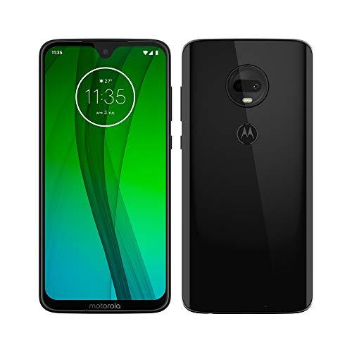 Motorola Moto G7 – Smartphone Android (pantalla 6.2'' FHD+ Max Vision, cámara dual 12MP, 4GB de RAM, 64 GB, Dual SIM), color negro [Exclusivo Amazon, Versión española]