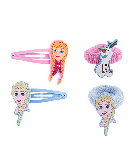 SIX Kids Disney Frozen - Die Eiskönigin Set mit Haargummis und Haarspangen (304-463) -