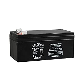 Offgridtec AGM Solar Batterie Extrem zyklenfest 3,2 Ah 20 Stünde 12 V, 2-01-001980
