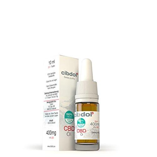 Preisvergleich Produktbild Cibdol ® CBD Öl 400 mg (10ml) -Vollständiges Terpenspektrum aus Schweizer Laboren - das Beste vom Besten