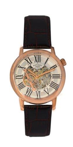 Rotary GLE000017/21 - Reloj de pulsera hombre, piel, color marrón