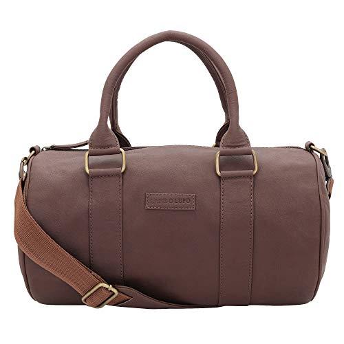 Lapis O Lupo Crush Men's Synthetic Duffle Bag; Brown
