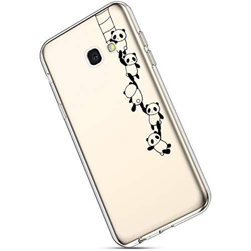 9a7cae83e1e Ukayfe Galaxy J4 Plus Cover Silicone Trasparente con Modello Ultra Sottile  Leggere e Chiaro Morbida Gel