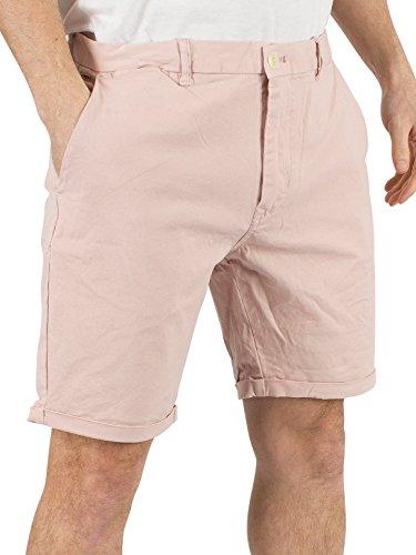Scotch & Soda Uomo Shorts Classic tinti Chino, Rosa, 36W