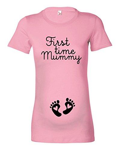 Women's 'First Time Mummy' Ladies Maternity T-Shirt