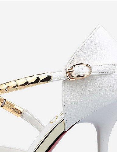 WSS 2016 Chaussures Femme-Mariage / Habillé / Décontracté-Multi-couleur-Talon Aiguille-Talons / Bout Pointu / Bout Fermé-Talons-Cuir black-us7.5 / eu38 / uk5.5 / cn38