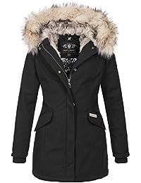 Navahoo Premium Damen Winter Jacke Parka Mantel Winterjacke warm Kunstfell B669