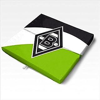 Alco Textile Mönchengladbach Folding Cushion diagonal stripes, grün/weiss/schwarz