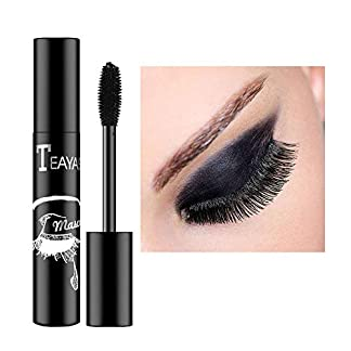 HONG98 4D Máscara De Pestañas/Color de Moda Mujeres Mascara Impermeable Secado Rápido Pestañas Curling Alargamiento Maquillaje Ojos/Para crear una mirada cautivadora (E)