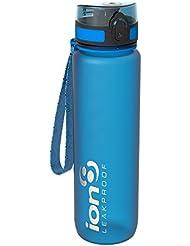 Ion8 - Bottiglia per l'acqua, a prova di perdite, senza BPA., Gym, Leak Proof BPA Free, Frosted Blue, 1000 ml