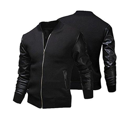 HOT-Koly-Gli-uomini-combattono-cappotto-giacca-di-pelle-Slim-Inverno-slim-collar-rivestimenti-casuali-degli-uomini-di-moda