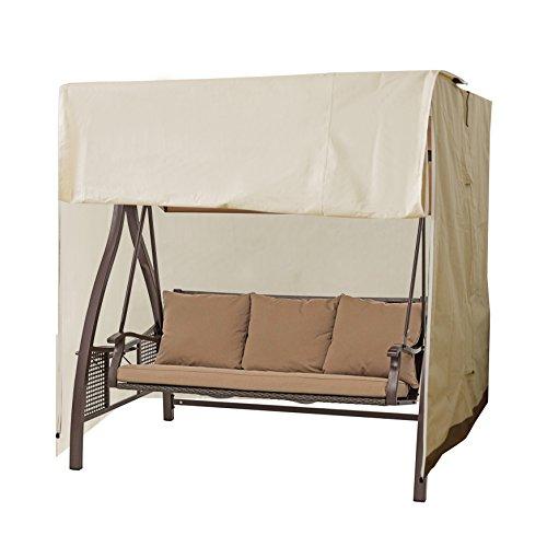 caymus 195,6x 152,4x 180,3cm Schutz Wasserdicht 3-Sitzer Hollywoodschaukel Sitz Bezug, beige -