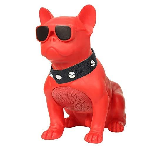 LIUMSJ Tragbare Lautsprecher Bluetooth-Lautsprecher Big Bulldog-Lautsprecher Subwoofer Mehrzweck-Computer PC-Lautsprecher TF MP3-Player (Color : Red) (Subwoofer-box T-line)