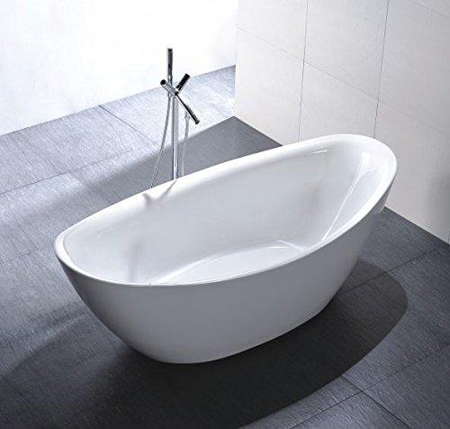 Freistehende Badewanne Acryl BELLAGIO weiß - 180 x 86 cm