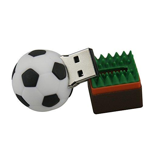Leaders 8GB / 16GB / 32GB Neuheit süß Fußball USB 2.0 Speicherstick Datens Memory Stick USB - Stick Flash Drive Geschenk (32GB) (Fußball-neuheit)