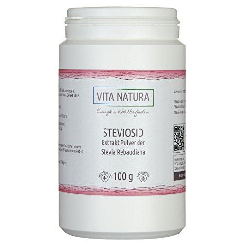Polvo de Stevia: lo dulce también puede ser sano ( Esteviósido al 95%)- 100g