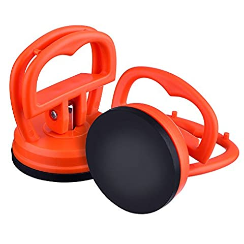 Outus 2 Pack 5.5 cm Dent Puller Car Dent Suction Cup Auto Body Dent Puller Removal Tool (Orange)