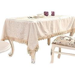 """adasmile hecho a mano Tela de Encaje de Ganchillo patrones Mantel Rectangular con flores de color rojo para mesas para fiestas, boda, Golden, 36""""x36"""""""