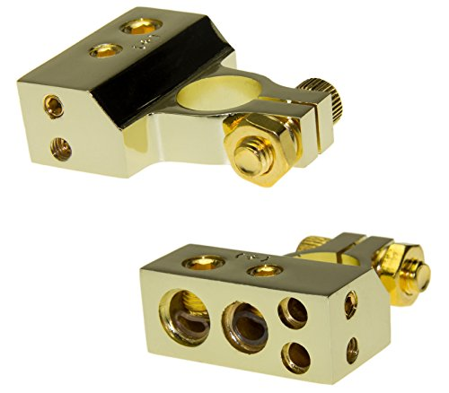 Adapter-Universe® Auto Batterie Terminal Klemme mit Verteiler Version1 2 x 12qmm Kabel Plus Pol