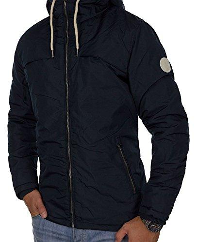 JACK & JONES Herren Winterjacke jorNEW CANYON Jacket Kapuze Regular Fit (XL, Dunkelblau (Total Eclipse Fit:ONE jorCALM CANYON)) (Echt Braune Jacke Leder)