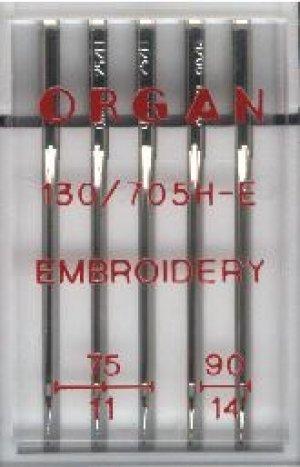 ORGAN 5 Nadeln Stärke 75-90 Embroidery - Sticknadeln