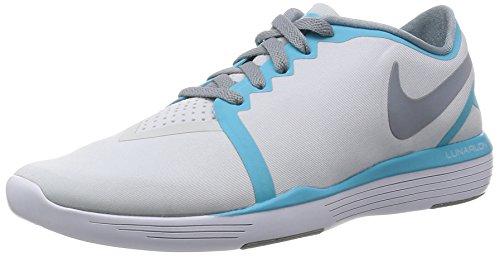 Nike Damen WMNS Lunar Sculpt Turnschuhe, Blanco (Pure Platinum/Stealth-GMM Blue), 38 - Sculpt Lunar Nike