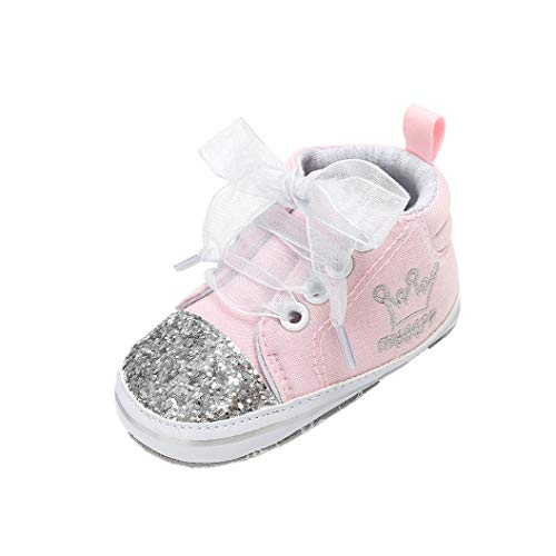 Auxma Babyschuhe Baby Schuhe Sneakers aus Leinwand mit Weichen und Rutschfesten Sohle Für 3-6 6-12 12-18 Monat (12-18 M, yy)